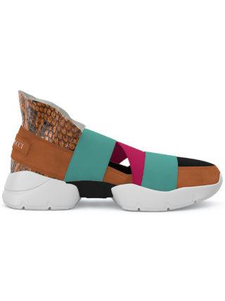 Emilio Pucci City Up custom sneakers (geel/oranje)