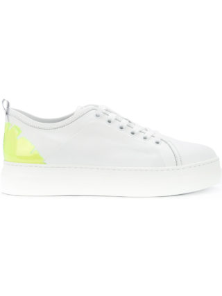 MSGM lace-up platform sneakers (wit)