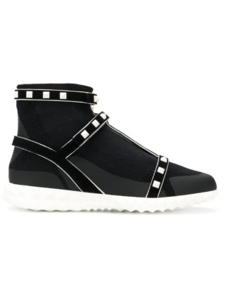 Valentino Rockstud sock sneakers (zwart)