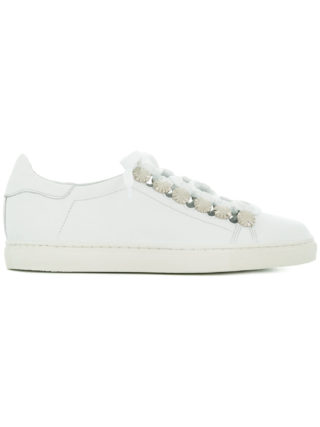 Toga Pulla cutout lace-up sneakers (wit)
