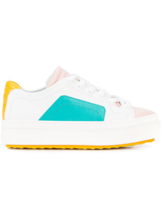 Pierre Hardy colourblock lace-up sneakers (wit)