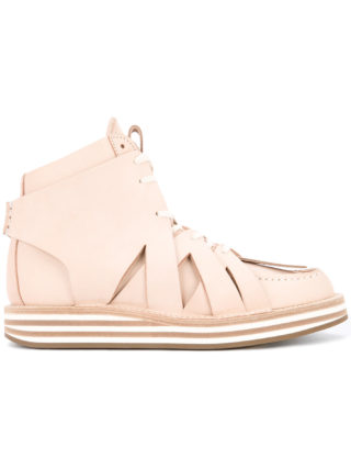 Hender Scheme crisscross detail sneakers (roze/paars)