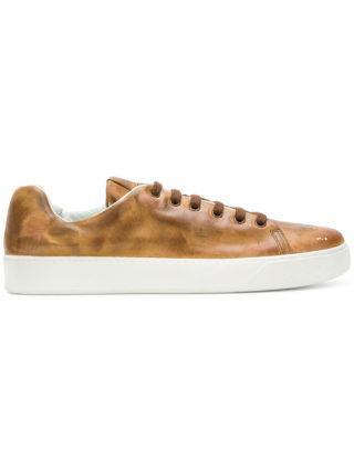Premiata faded low top sneakers (bruin)