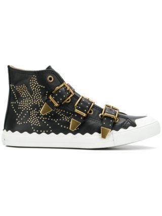 Chloé Kyle buckled sneakers (zwart)