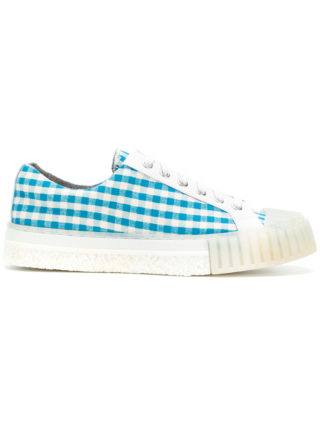 Adieu Paris gingham check sneakers (blauw)