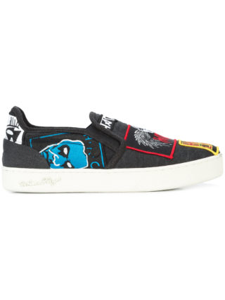 Haculla rancid slip on sneakers (zwart)