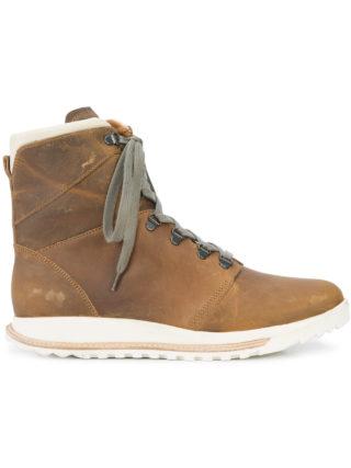 Rick Owens lace-up hi top sneakers (bruin)
