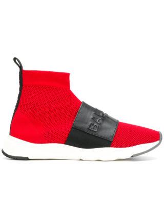 Balmain branded sneaker boots (rood)