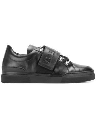 Balmain logo strap sneakers (zwart)