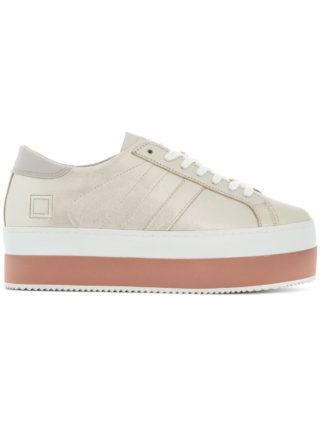 D.A.T.E. platform low top sneakers (zilver)