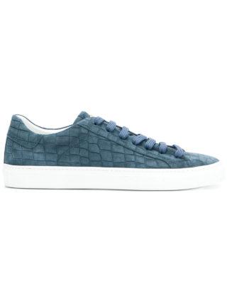 Hide&Jack crocodile embossed sneakers (blauw)