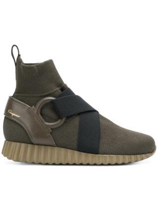 Salvatore Ferragamo slip-on sock boots (groen)