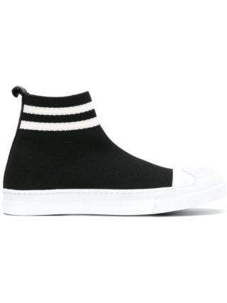 Neil Barrett Skater hi-top sneakers (zwart)