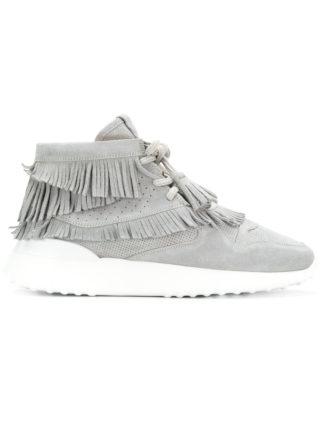 Tod's flatform hi-top sneakers (grijs)