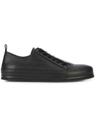 Ann Demeulemeester leather top sneakers (zwart)
