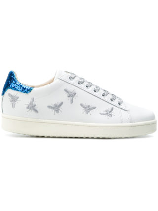 Moa Master Of Arts embroidered glitter sneakers (wit)