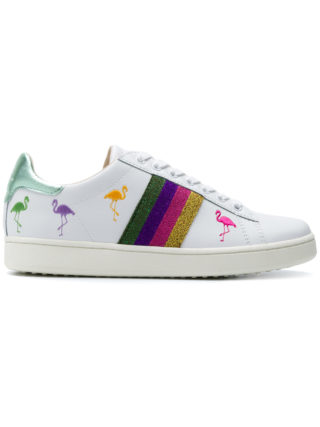 Moa Master Of Arts striped Flamingo sneakers (wit)
