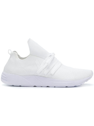 Arkk knit style low top sneakers (wit)