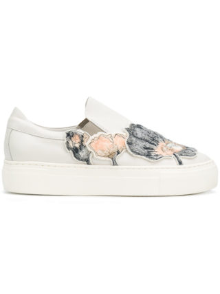 Agl sequin floral appliquéd sneakers (Overige kleuren)