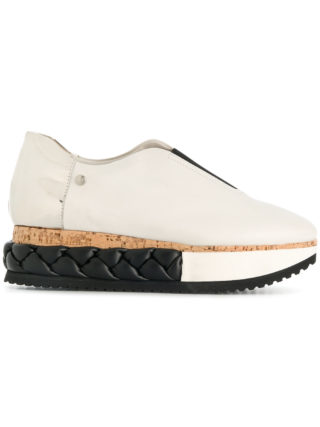Agl braided platform sneakers (wit)