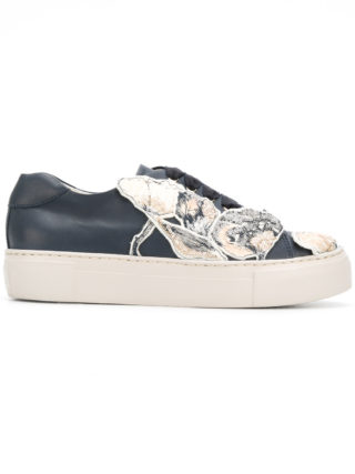 Agl floral patched sneakers (blauw)