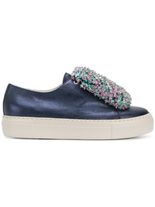 Agl beaded front platform sneakers (blauw)