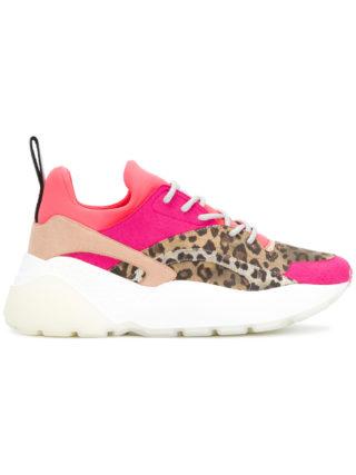 Stella McCartney Eclypse leopard-print sneakers - Multicolour