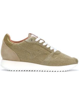 Mizuno metallic lace-up sneakers (zilver)