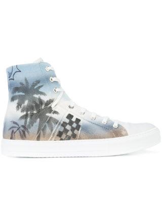 Amiri print hi-top sneakers (blauw)