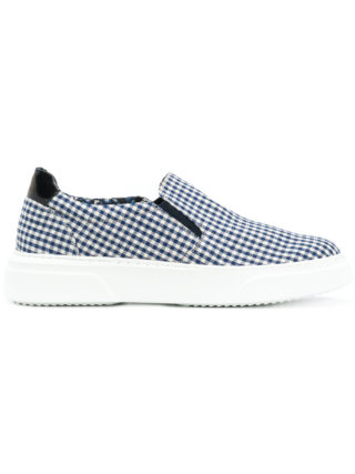 Gabriele Pasini checked slip-on sneakers (wit)