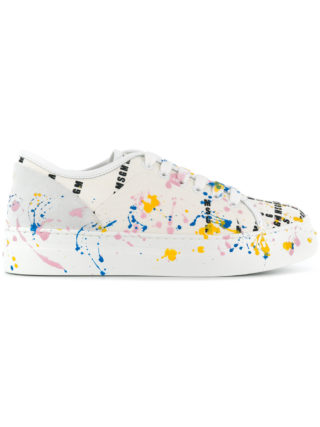 MSGM paint-effect sneakers (wit)