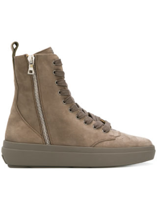 Represent side zip hi-tops (grijs)