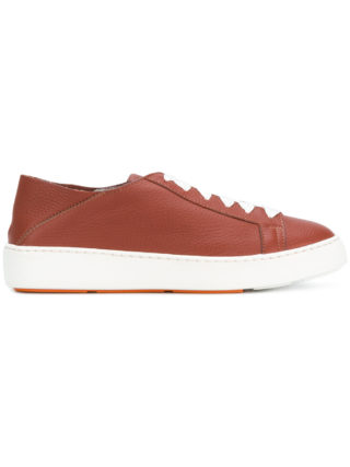 Santoni lace-up sneakers (bruin)