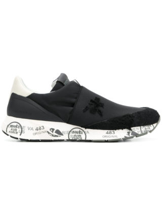 White Premiata printed sole slip-on sneakers (zwart)