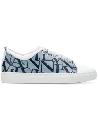 Lanvin logo printed low-top sneakers (blauw)