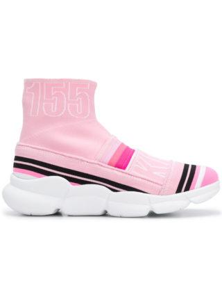 MSGM branded sock sneakers (roze/paars)