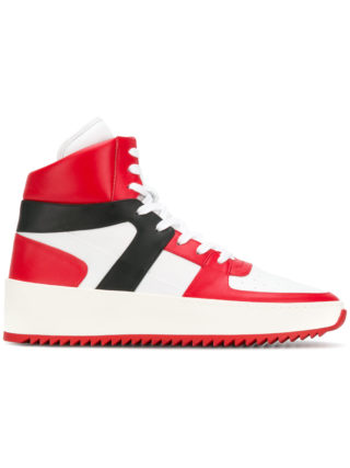 Fear Of God panelled high top sneakers (rood)