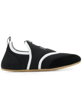 Isabel Marant mesh panel slip-on sneakers (zwart)