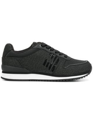 Emporio Armani metallic sneakers (zwart)