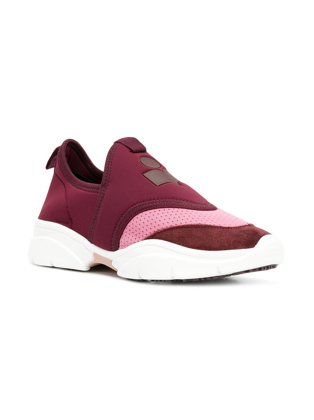 Isabel Marant Kaynee Chaussures De Sport - Rose Et Violet hR5GTd