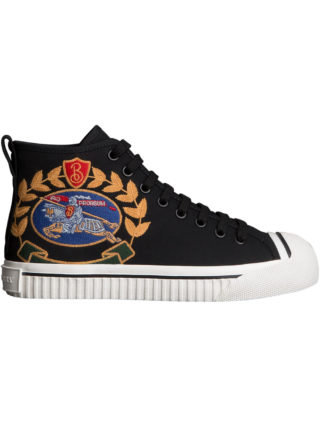 Burberry Embroidered Archive Logo High-top Sneakers (zwart)