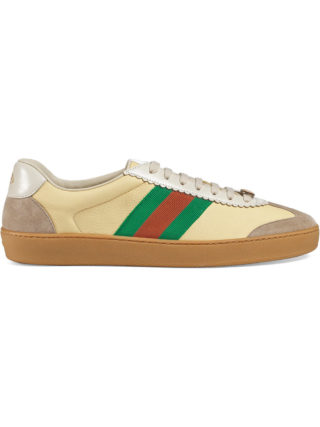 Gucci Leather and suede Web sneaker - Yellow & Orange