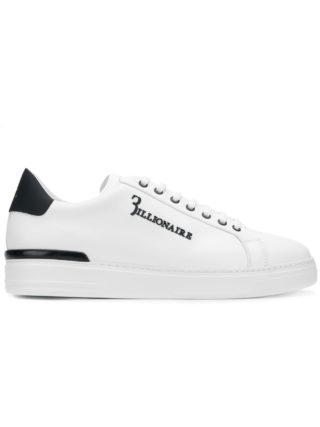 Billionaire low top logo sneakers (wit)