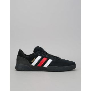 Adidas City Cup Skate Shoes - Core Black/Scarlet/White (UK 6)