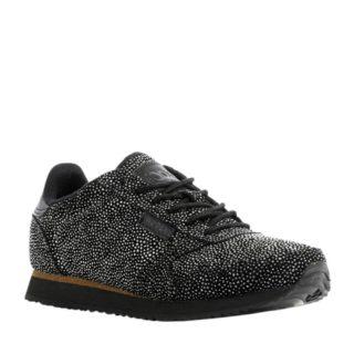 Woden Ydun sneakers met glitters (zwart)