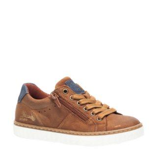 Groot leren sneakers jongens (bruin)
