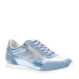 TwoDay leren sneakers (blauw)