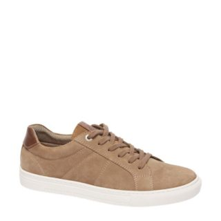 vanHaren – AM SHOE suède sneakers (bruin)
