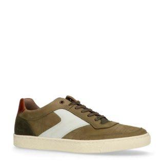 Manfield suède sneakers kaki (groen)