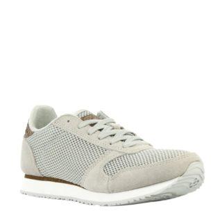 Woden Ydun Mesh NS sneakers met suède (grijs)